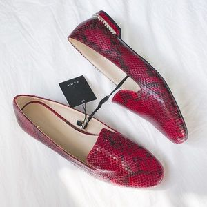 Zara flat shoes with heel detail